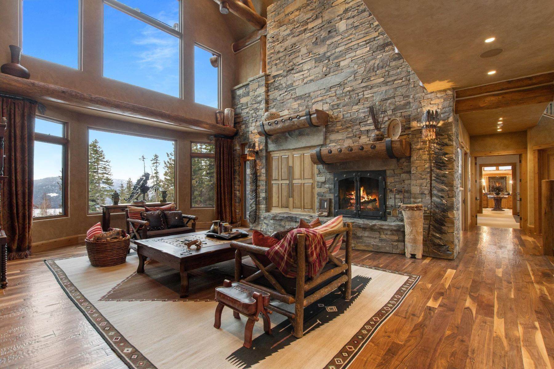 3. Single Family Homes for Sale at Magnificent Mountain Architecture 105 Huckleberry Lane Whitefish, Montana 59937 United States