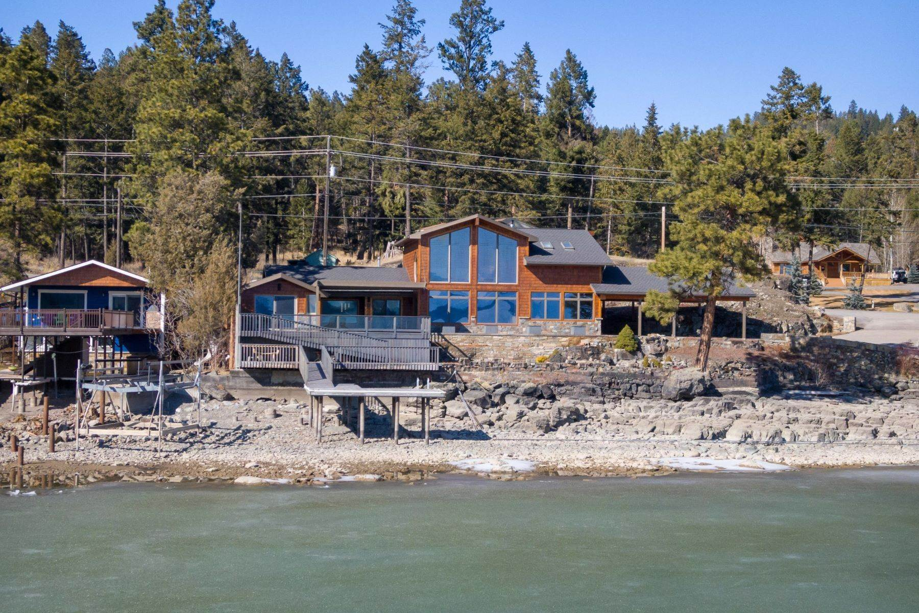 47. Single Family Homes for Sale at Flathead Lake Living 5505 Us Hwy 93 Somers, Montana 59932 United States