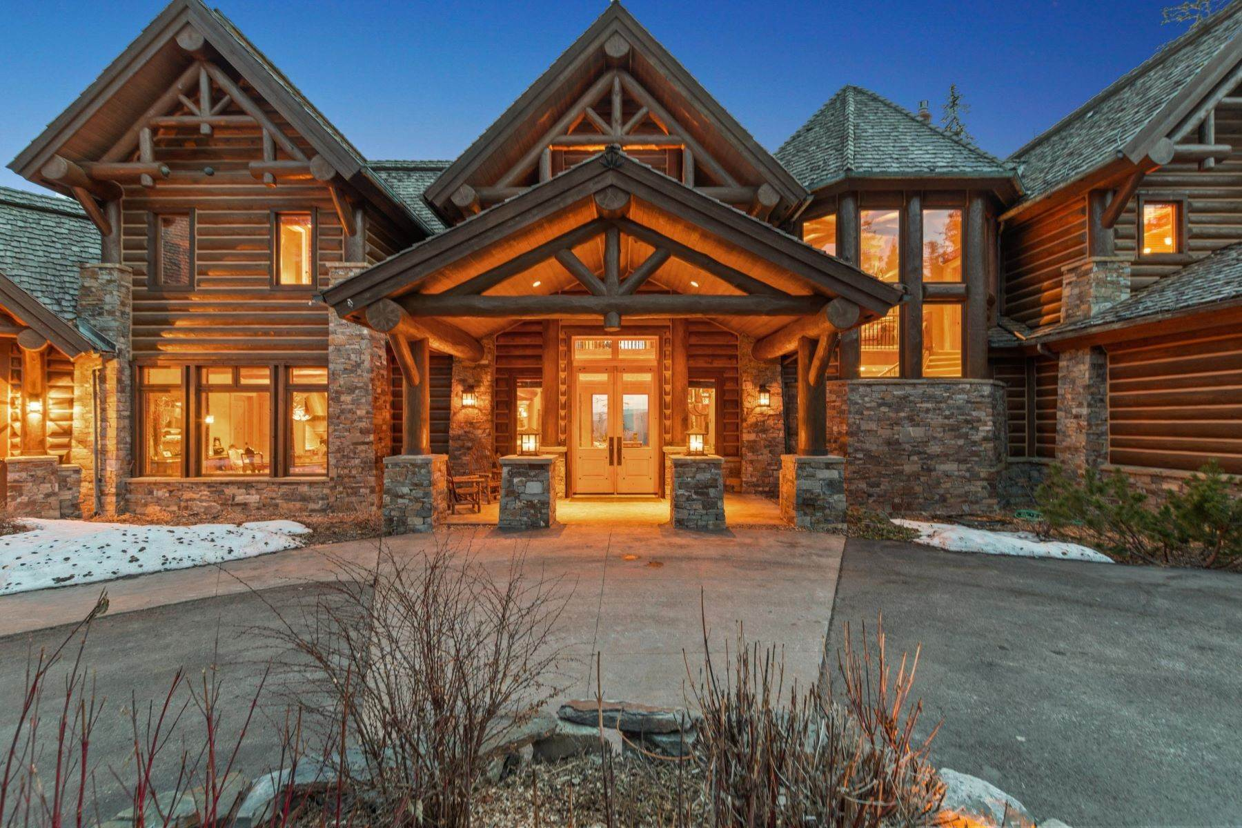 2. Single Family Homes for Sale at Magnificent Mountain Architecture 105 Huckleberry Lane Whitefish, Montana 59937 United States