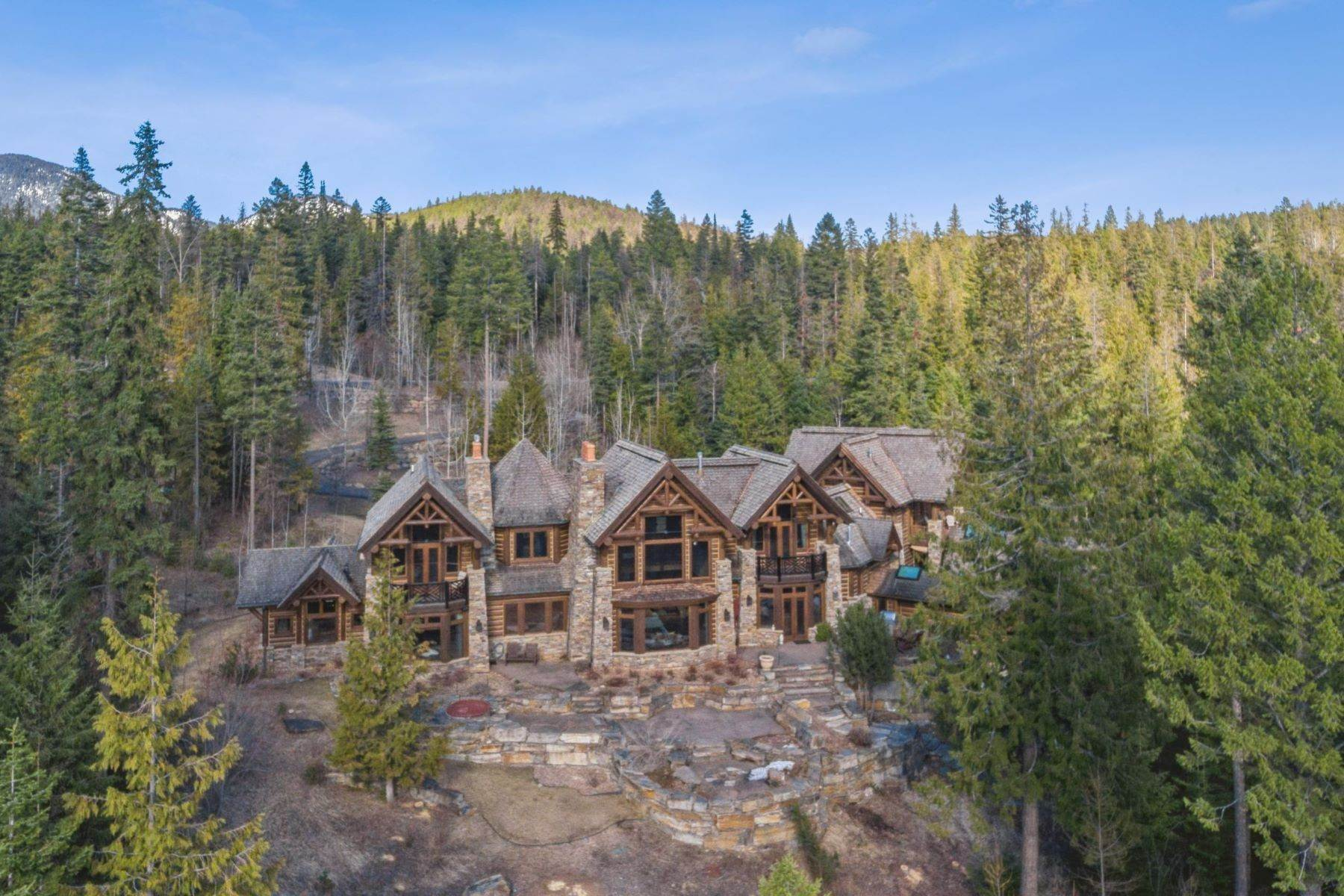 30. Single Family Homes for Sale at Magnificent Mountain Architecture 105 Huckleberry Lane Whitefish, Montana 59937 United States