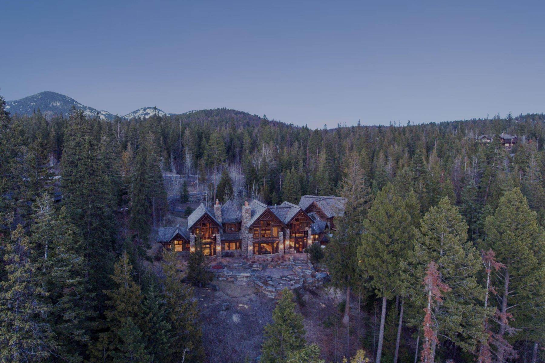 27. Single Family Homes for Sale at Magnificent Mountain Architecture 105 Huckleberry Lane Whitefish, Montana 59937 United States