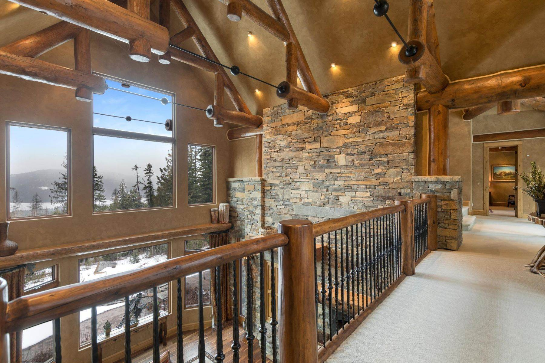 18. Single Family Homes for Sale at Magnificent Mountain Architecture 105 Huckleberry Lane Whitefish, Montana 59937 United States