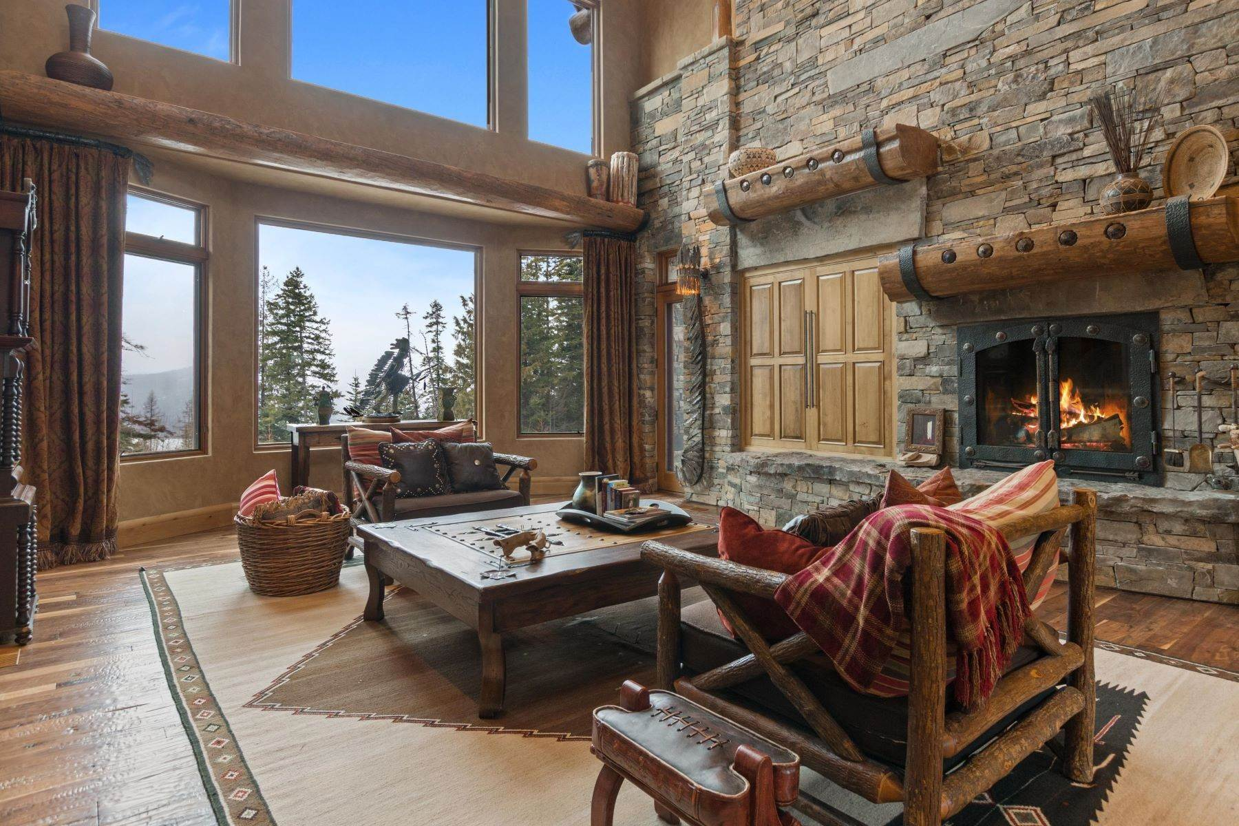 25. Single Family Homes for Sale at Magnificent Mountain Architecture 105 Huckleberry Lane Whitefish, Montana 59937 United States