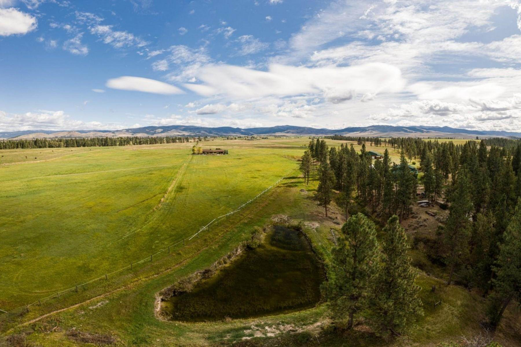 Single Family Homes for Sale at Ranch with Airstrip and Hangar 794 Drift In Lane Stevensville, Montana 59870 United States