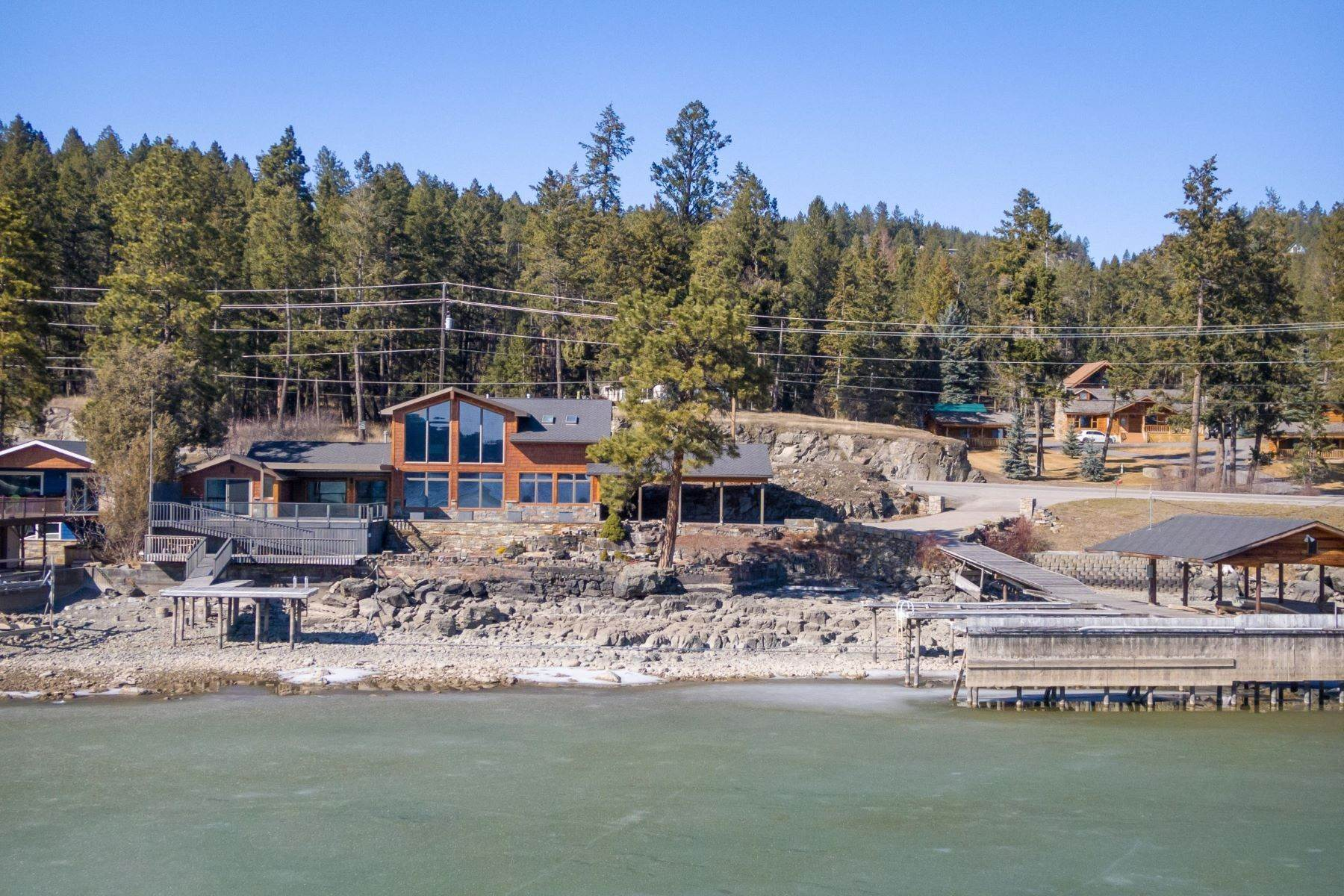 Single Family Homes for Sale at Flathead Lake Living 5505 Us Hwy 93 Somers, Montana 59932 United States